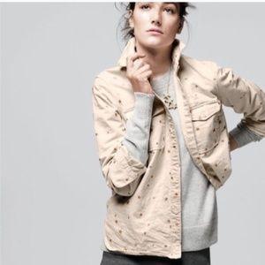 J. Crew Women's Gold Star Shirt Jacket Button